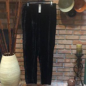 NWT J.Crew Black Velvet Pull-on Pant size 6 T